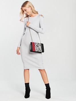 lost-ink-popper-cold-shoulder-dress-light-grey