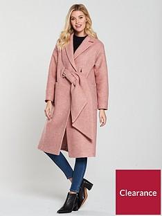 lost-ink-tie-front-coatigannbsp--pink