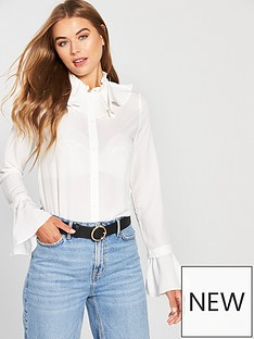 lost-ink-double-layer-neck-detail-shirt-whitenbsp