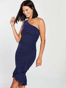 ax-paris-one-shoulder-ruffle-hem-midi-dress-navy