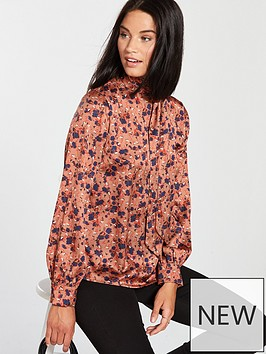 lost-ink-tie-neck-blouse-ditsy-print