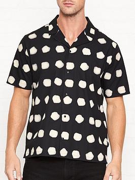 folk-short-sleeve-soft-collar-dot-printnbspshirt-black