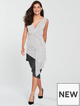 lavish-alice-lavish-alice-contrast-polka-dot-bodycon-midi-dress-blackwhite