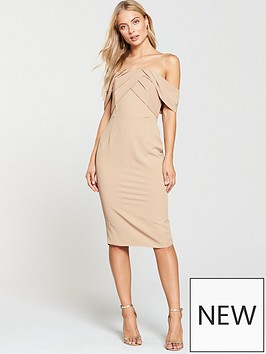 lavish-alice-lavish-alice-bardot-pleated-double-layer-midi-dress