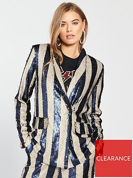 lost-ink-sequin-stripe-blazer-co-ord-navynbsp