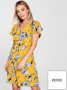 ax-paris-petite-petite-wrap-dress-yellow