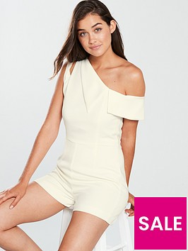 lavish-alice-one-shoulder-asymmetric-playsuit-white