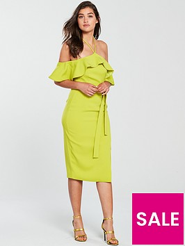 lavish-alice-bardot-draped-frill-midi-bodycon-dress-lime