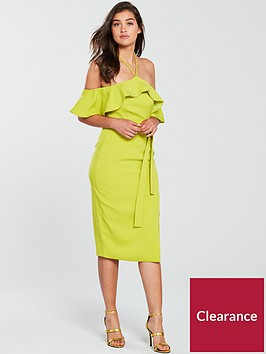 lavish-alice-bardot-draped-frill-midi-bodycon-dress-lime