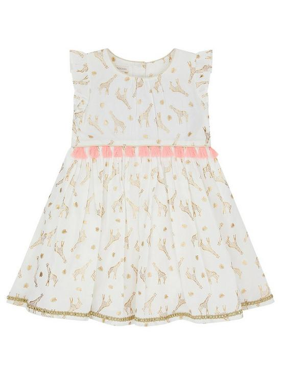 2f1ff249f Monsoon Baby Milly Giraffe Dress | very.co.uk
