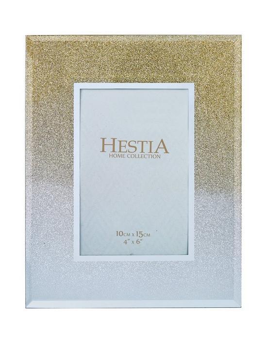 8a96b16f9bf Glass Gold Gliter Photo Frame 4 X 6