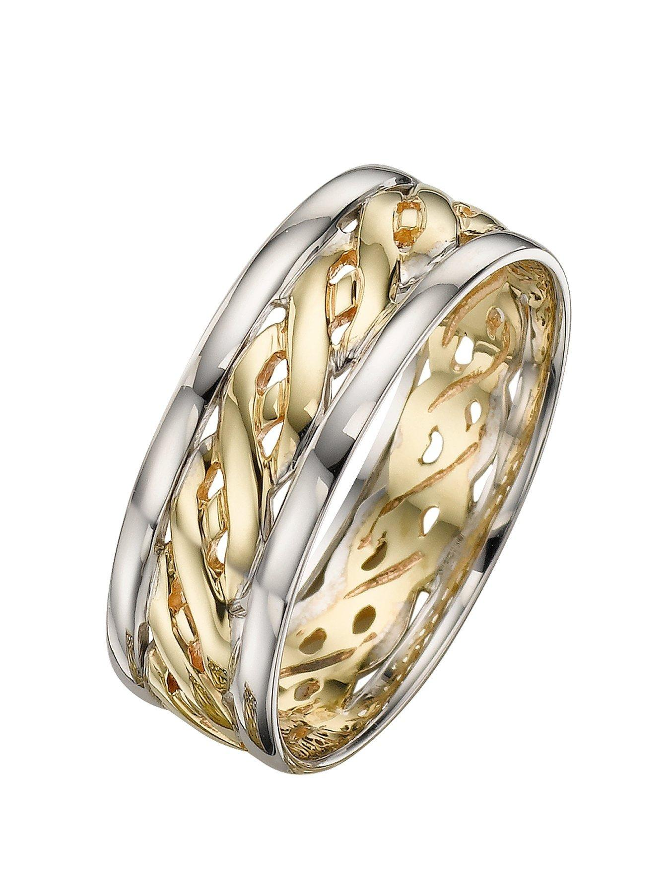 2 colour gold wedding rings