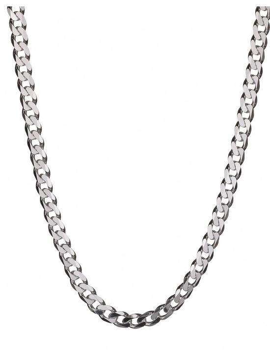 05a2709fc85c7 Sterling Silver 2oz Solid Diamond-Cut 18 inch Curb Chain