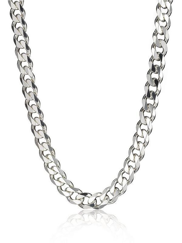 4ca79a6307880 Sterling Silver 3oz Solid Diamond-Cut 20 Inch Mens Curb Chain