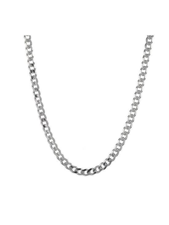 cbb19127d0089 Sterling Silver 1/2oz Solid Diamond-Cut Curb Chain