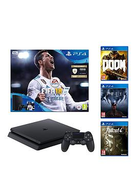 playstation-4-500gb-fifa-18-console-with-fallout-4-doom-prey-365-psn-subscription-and-extra-dualshock-controller