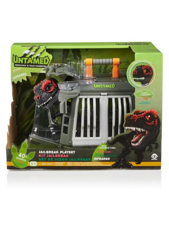 Untamed Jailbreak Playset with Infrared T-Rex