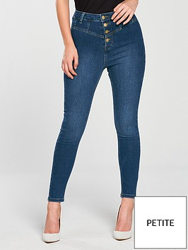 v-by-very-petite-button-high-waist-skinny-jean-blue