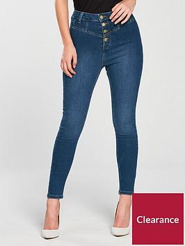 v-by-very-petite-button-high-waist-skinny-jean-blue
