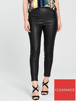 v-by-very-petite-faux-leather-zip-side-trouser-blacknbsp