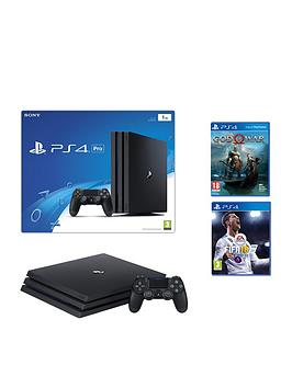 playstation-4-pro-black-console-with-god-of-war-fifa-18-1yr-psn-subscription-and-extra-dualshock