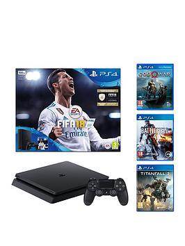 playstation-4-500gb-fifa-18-console-god-of-war-titanfall-2-battlefield-4-and-a-365-psn-subscription