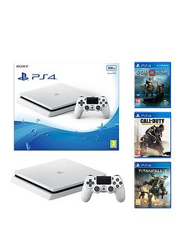 playstation-4-500gb-white-slim-console-with-god-of-war-call-of-duty-advanced-warfare-and-titanfall-2