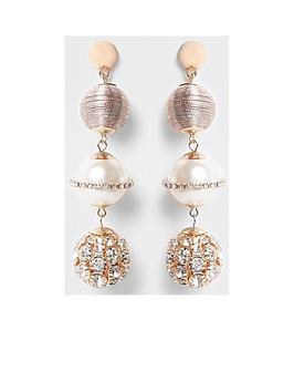 river-island-river-island-wrapped-pearl-diamante-earring
