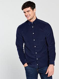 selected-homme-long-sleeve-cord-shirt-dark-blue