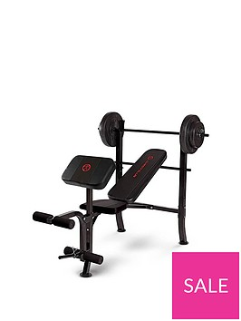 marcy-standard-bench-with-36kg-weight-set