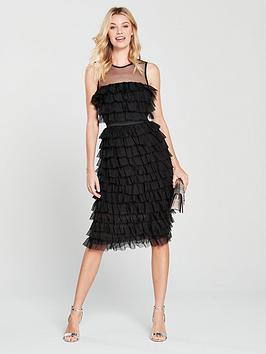 forever-unique-ruffle-midi-dress-black