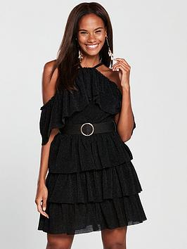 Forever Unique Forever Unique Frill Layer Dress With Belt