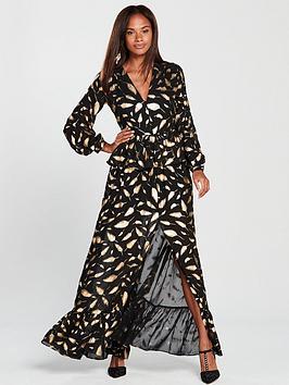 Forever Unique Feather Print Dress