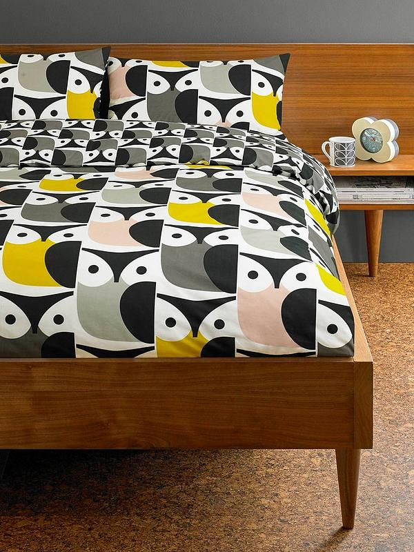 bd91216d6d Orla Kiely House Big Owl Cotton Duvet Cover | very.co.uk