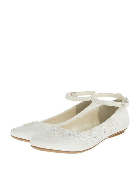 2ee5f178875fca Monsoon Girls Chloe Lace Ballerina Shoe