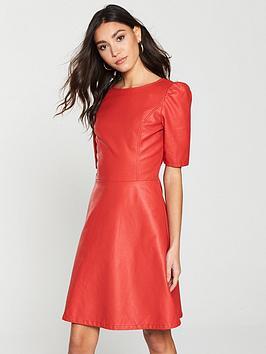 V By Very A-Line Dress - Red