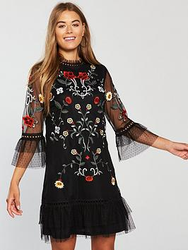 v-by-very-embroidered-tunic-dress-black