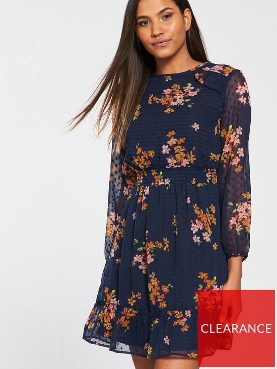 3290659bc4c771 V by Very Printed Jacqaurd Tea Dress | very.co.uk