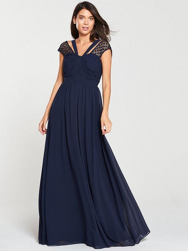 vast selection best wholesaler reasonably priced Bridesmaid Maxi Dress - Navy