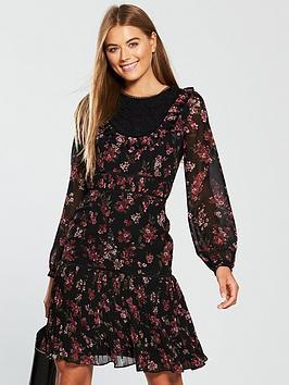 v-by-very-drop-hem-dress-printednbsp