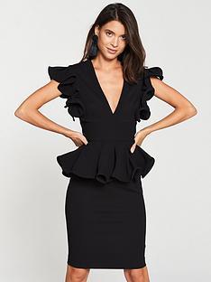 v-by-very-peplum-v-neck-occasion-dress-black