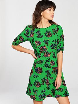 v-by-very-ruched-sleeve-tea-dress