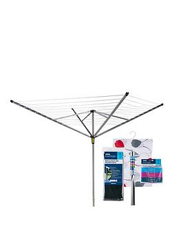 minky-easy-breeze-50-metre-rotary-airer-with-accessory-pack