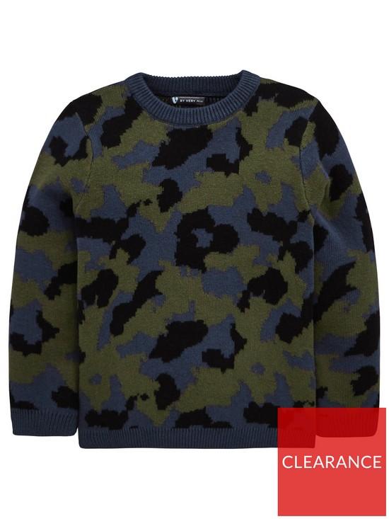 535138dd9919 Mini V by Very Boys Camo Knitted Jumper - Camo