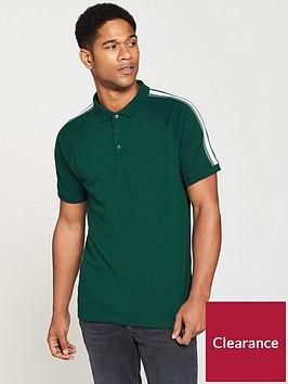 v-by-very-mens-shoulder-stripe-polo-pine-green