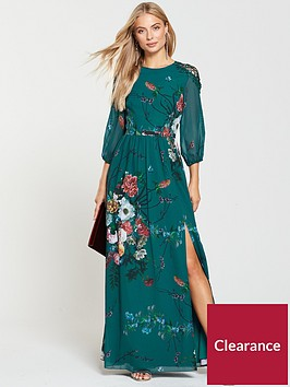 little-mistress-vintage-fit-and-flare-maxi-dress-floral-print