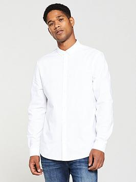v-by-very-mens-long-sleeved-button-down-oxford-shirt-white