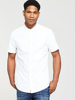 v-by-very-mens-short-sleeved-oxford-shirt-white