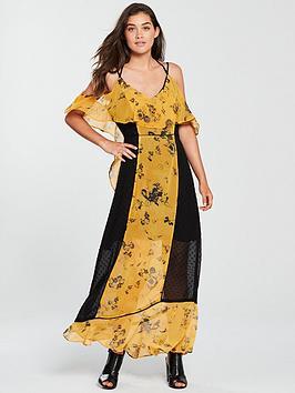Religion Posie Printed Maxi Dress - Yellow