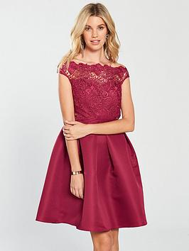 little-mistress-lace-skater-dress-berrynbsp